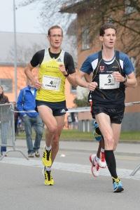 Christian und Michi Ott an der 10er Strassen-SM 2013 in Uster
